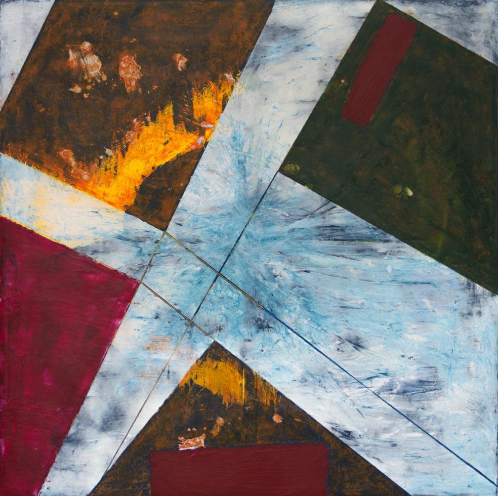 Fragmentación, 2015 Encausto sobre tela 100 x 100 cm