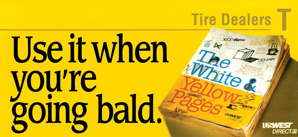 Billboard for the Yellow Pages, remember those?