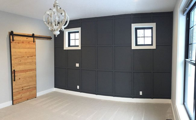 Accent Wall with Custom Built Barn Door