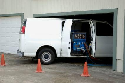 Red Carpet Cleaning Van