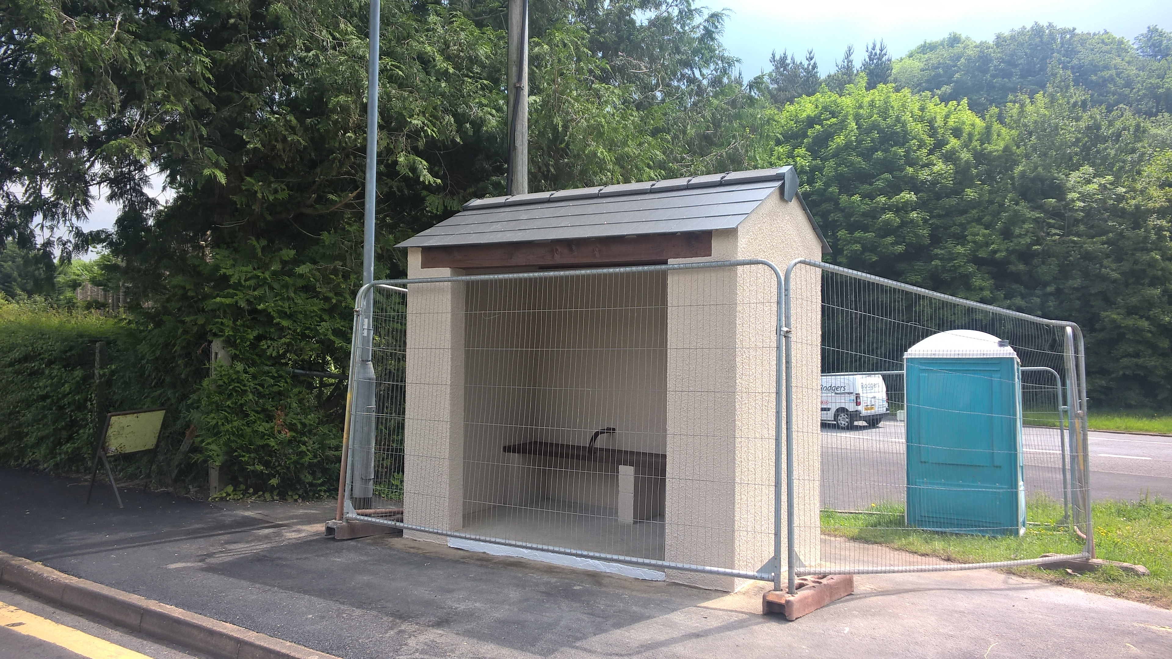 Complete rebuild of Bus Shelter after being hit by a lorry