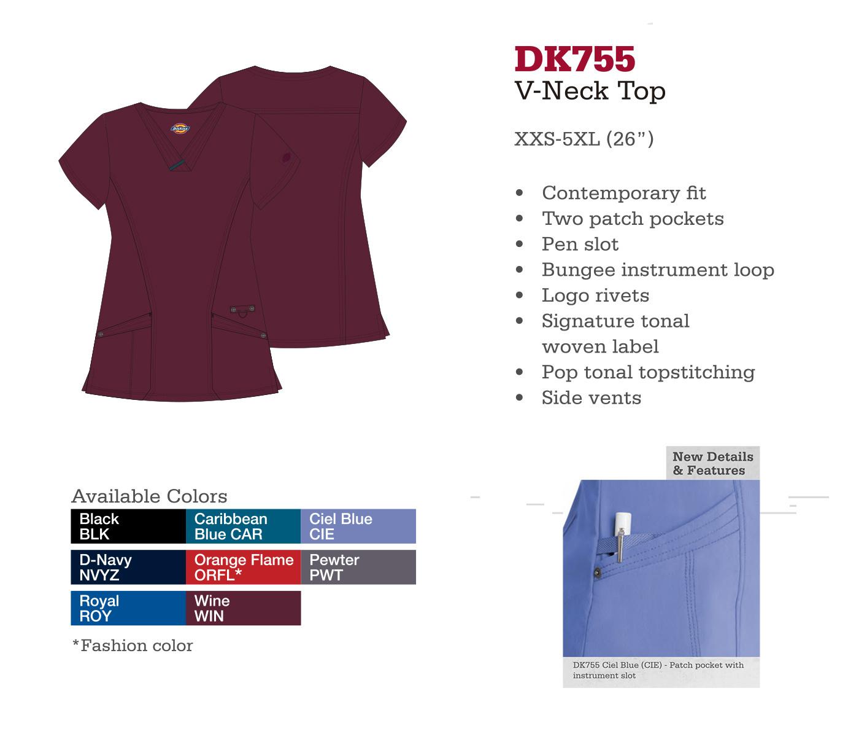 Cuello en V. DK755.
