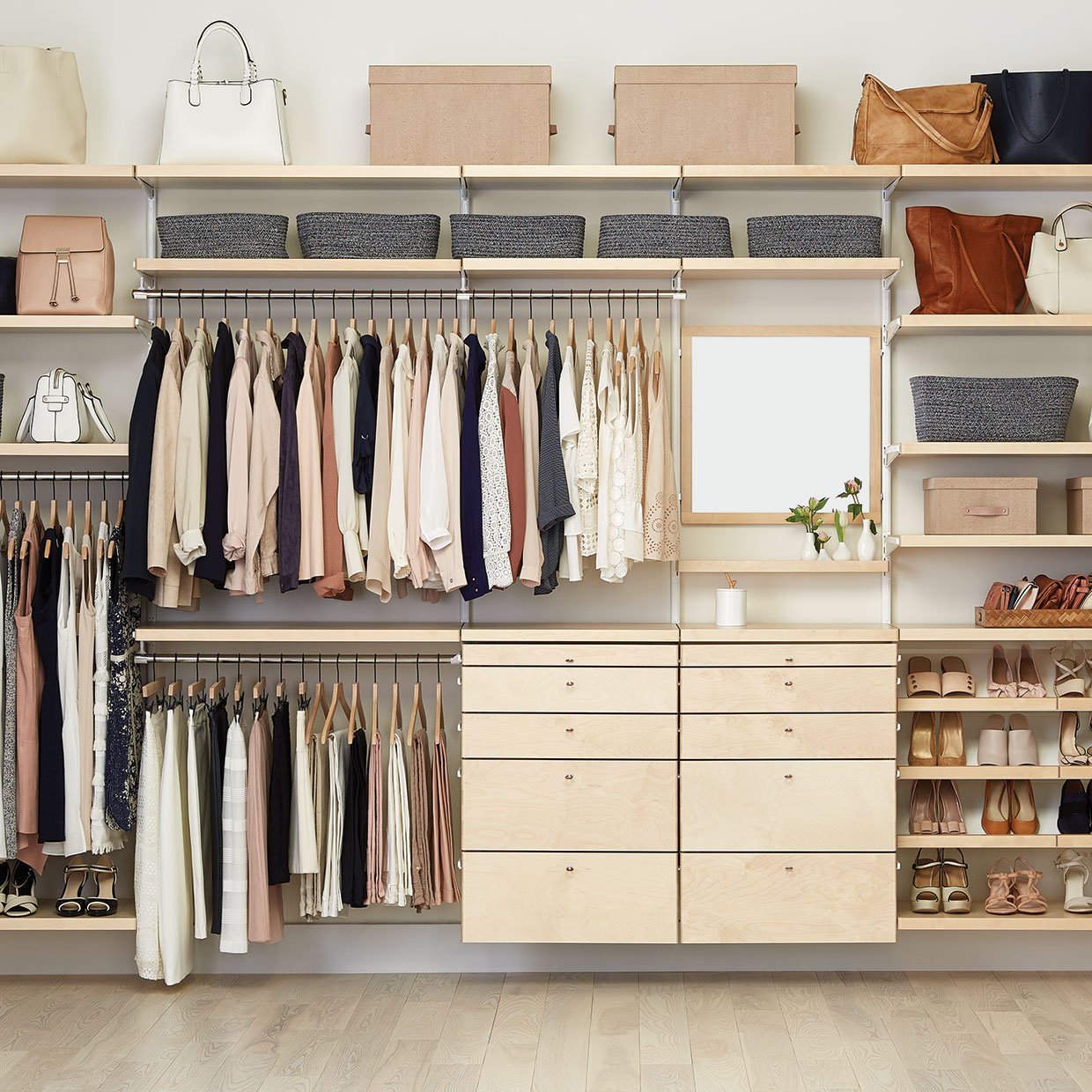 Organized Clothes and Shoes