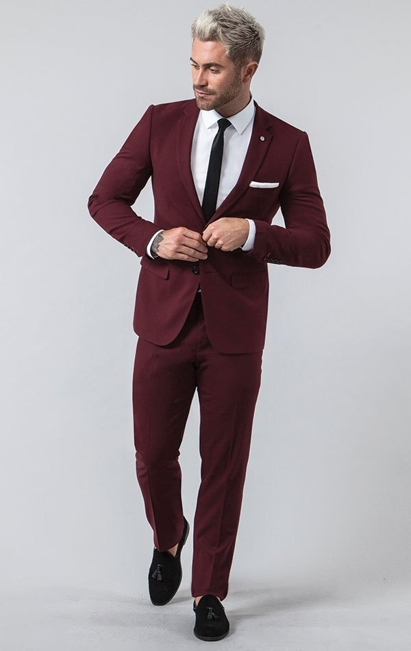 Burgundy Slim Fit