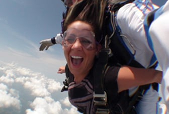 Skydiver Having Fun