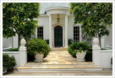 Estate home grand entrance||||