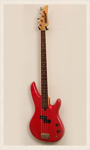 Red Yamaha Bass Guitar