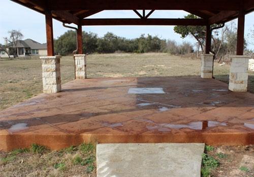 Custom Patio Foundation
