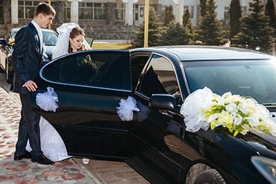Limousine On Wedding-Day