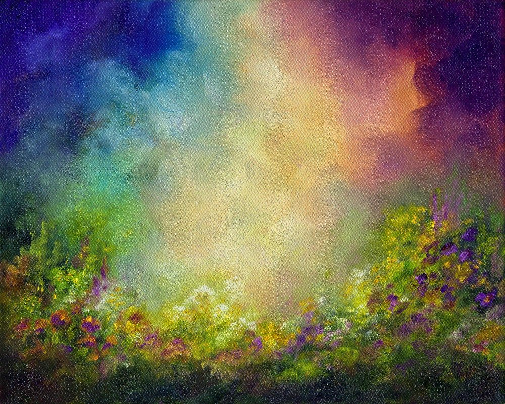 """Serenity Garden ~ 8"""" x 10"""" Oil on Stretched Canvas  $150"""