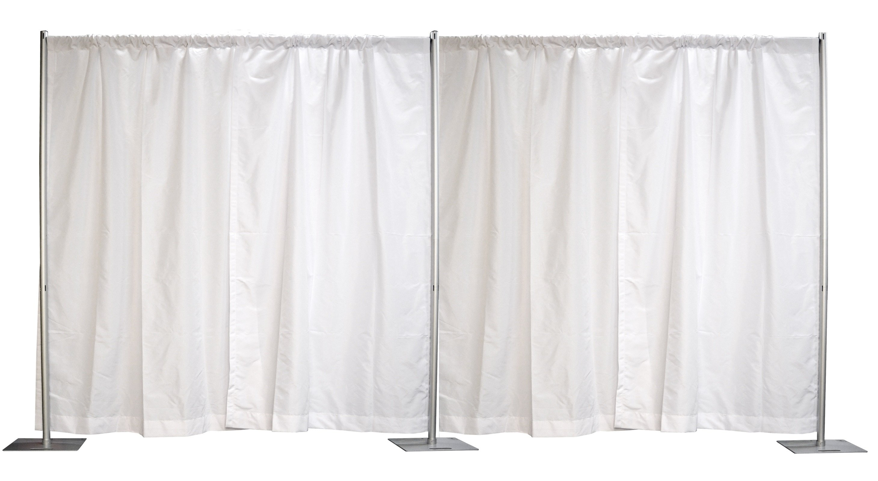 Pipe and Drape Sets  8' tall(white) 6'-10' Starting at $41 12'-20' Starting at $76