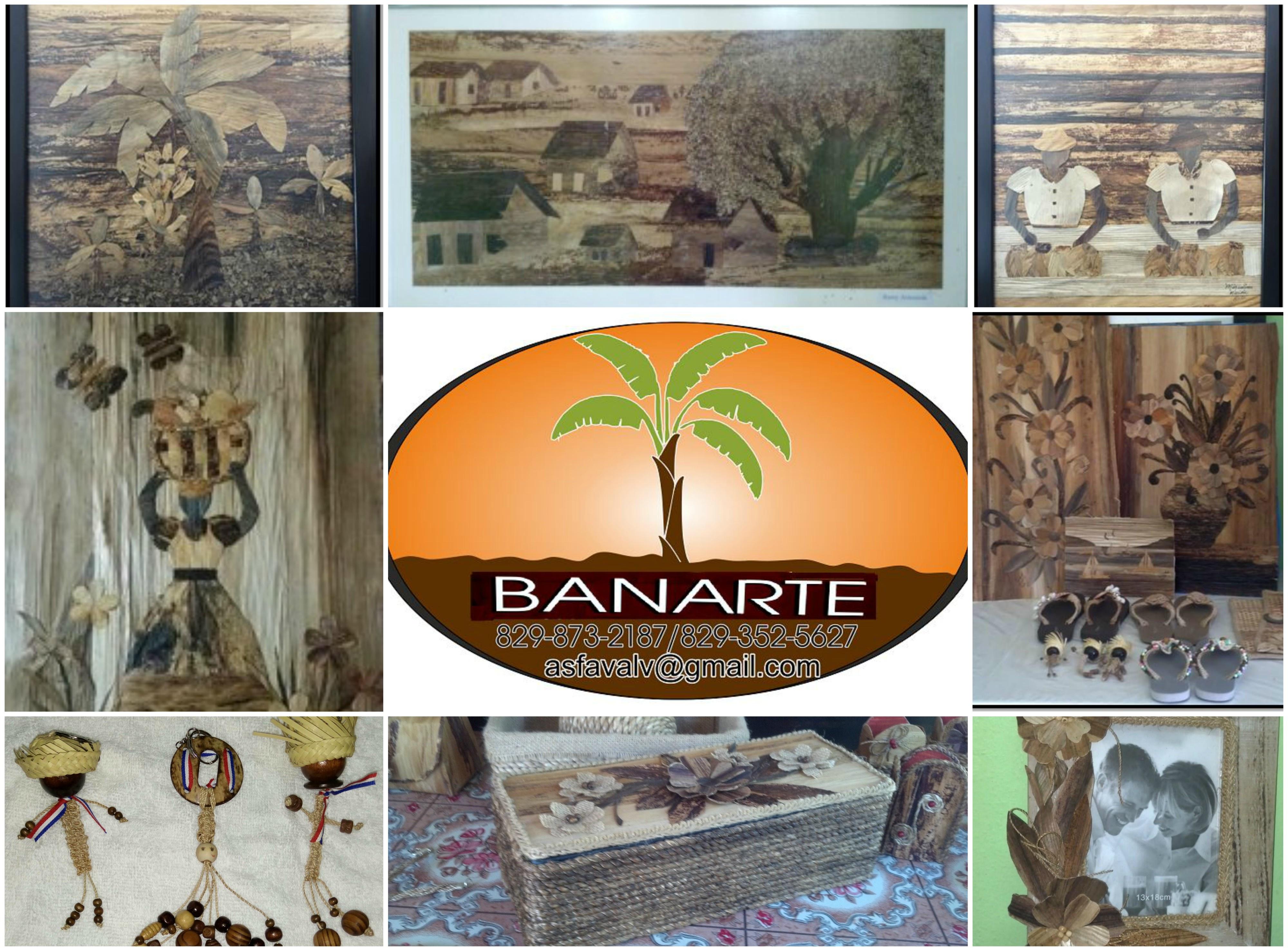 Varias productos de las artesanas