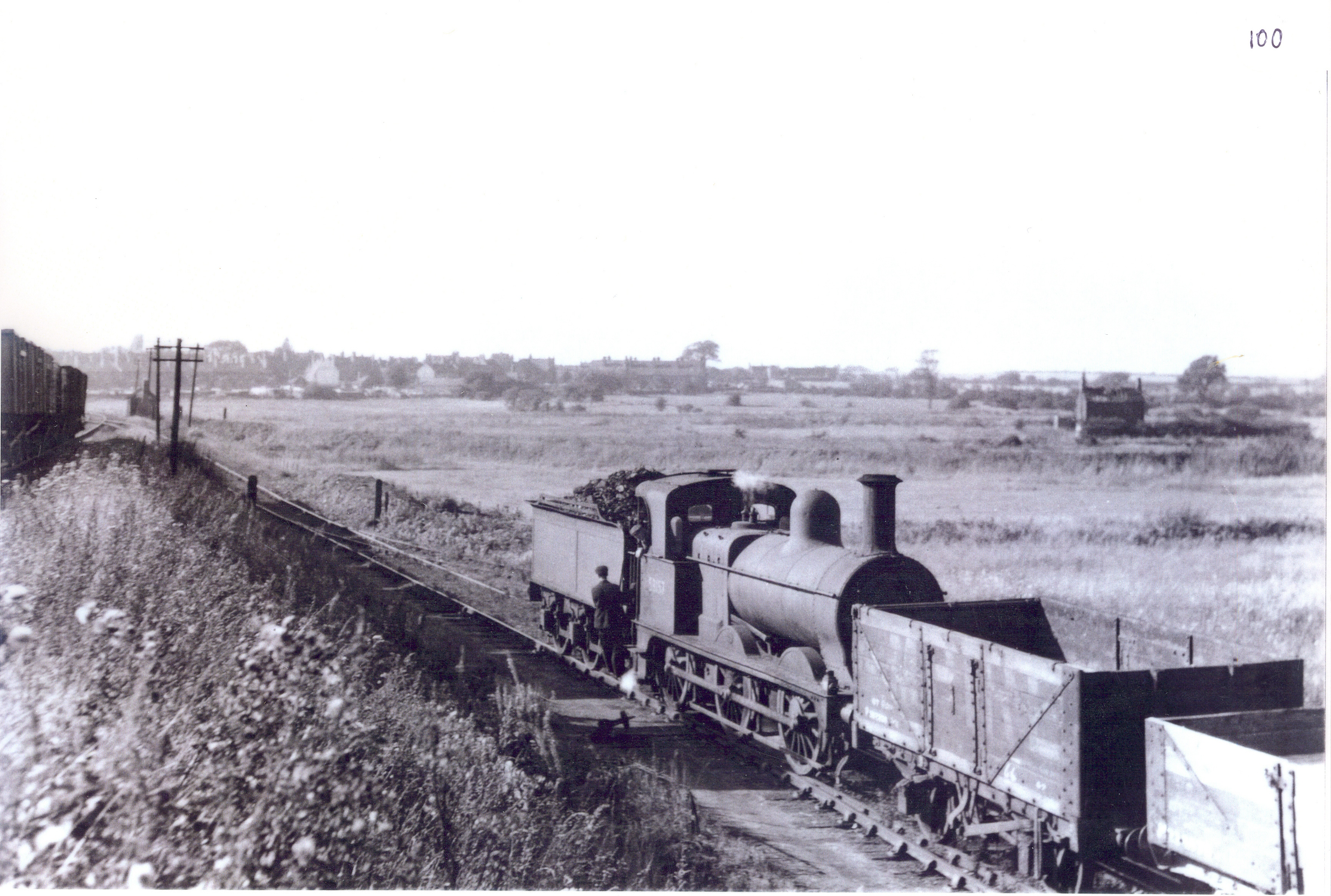 Goods  train on the branch line