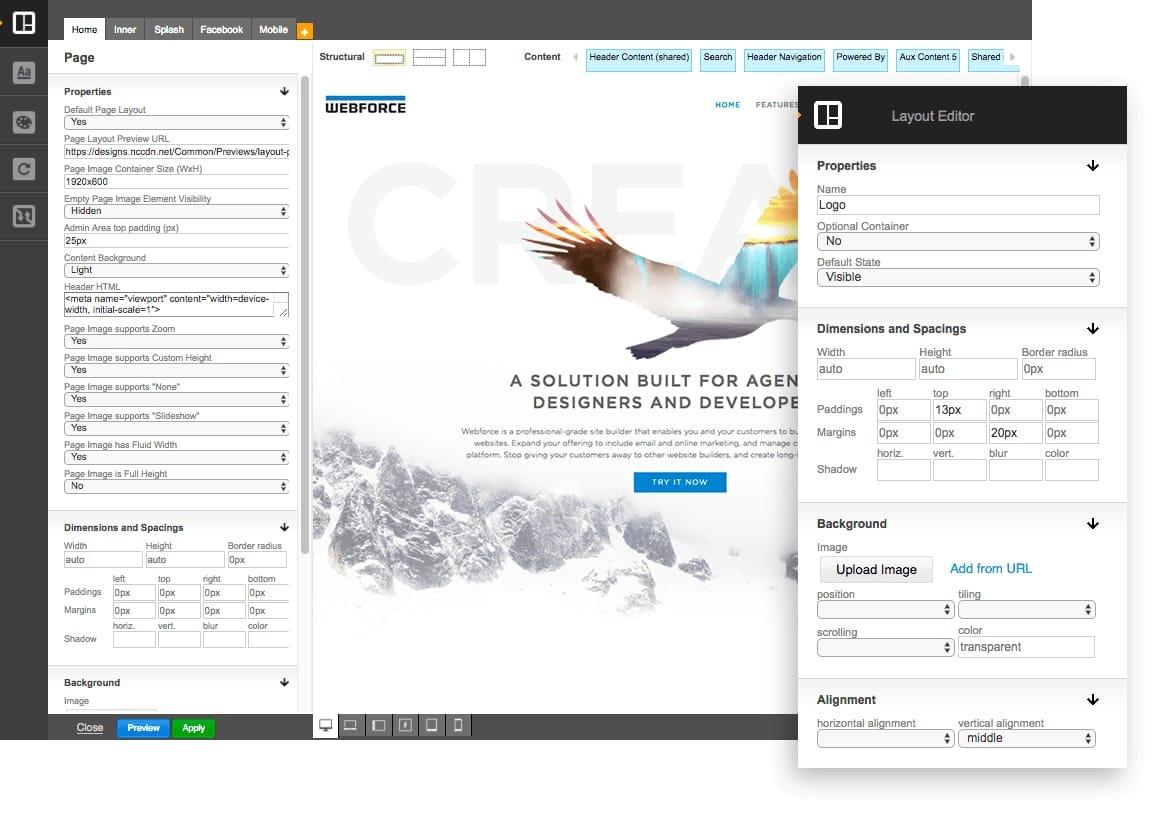 DesignPro Editor - Preview mode