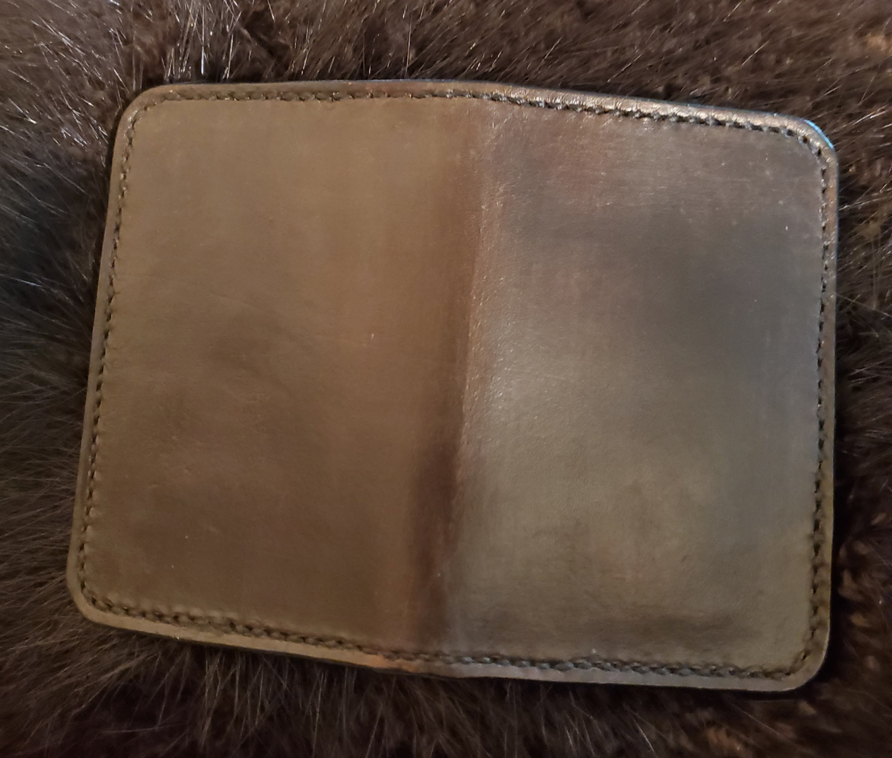 (Outside)   Minimalist 4 pocket Wallet, hand tooled, hand stitched...   $75.00