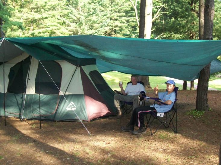 Enjoying camp