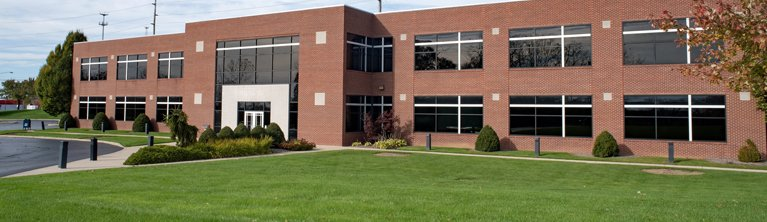 Business Building with Lawn