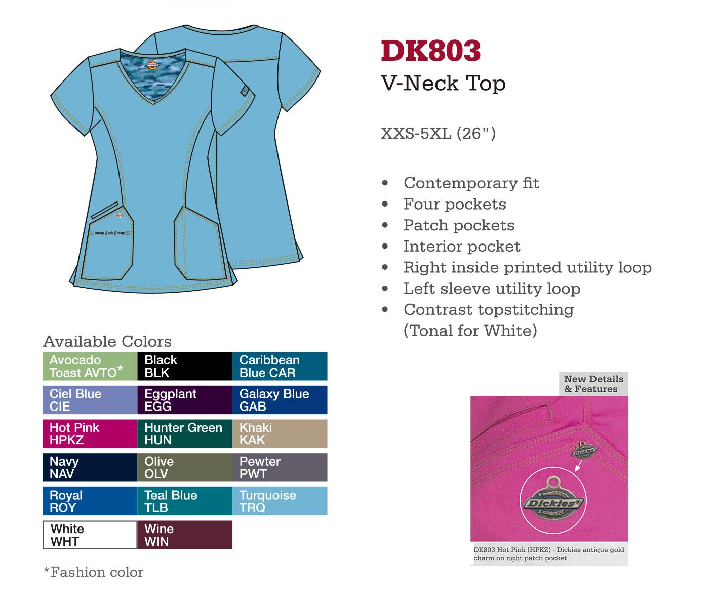 Cuello en V. DK803.
