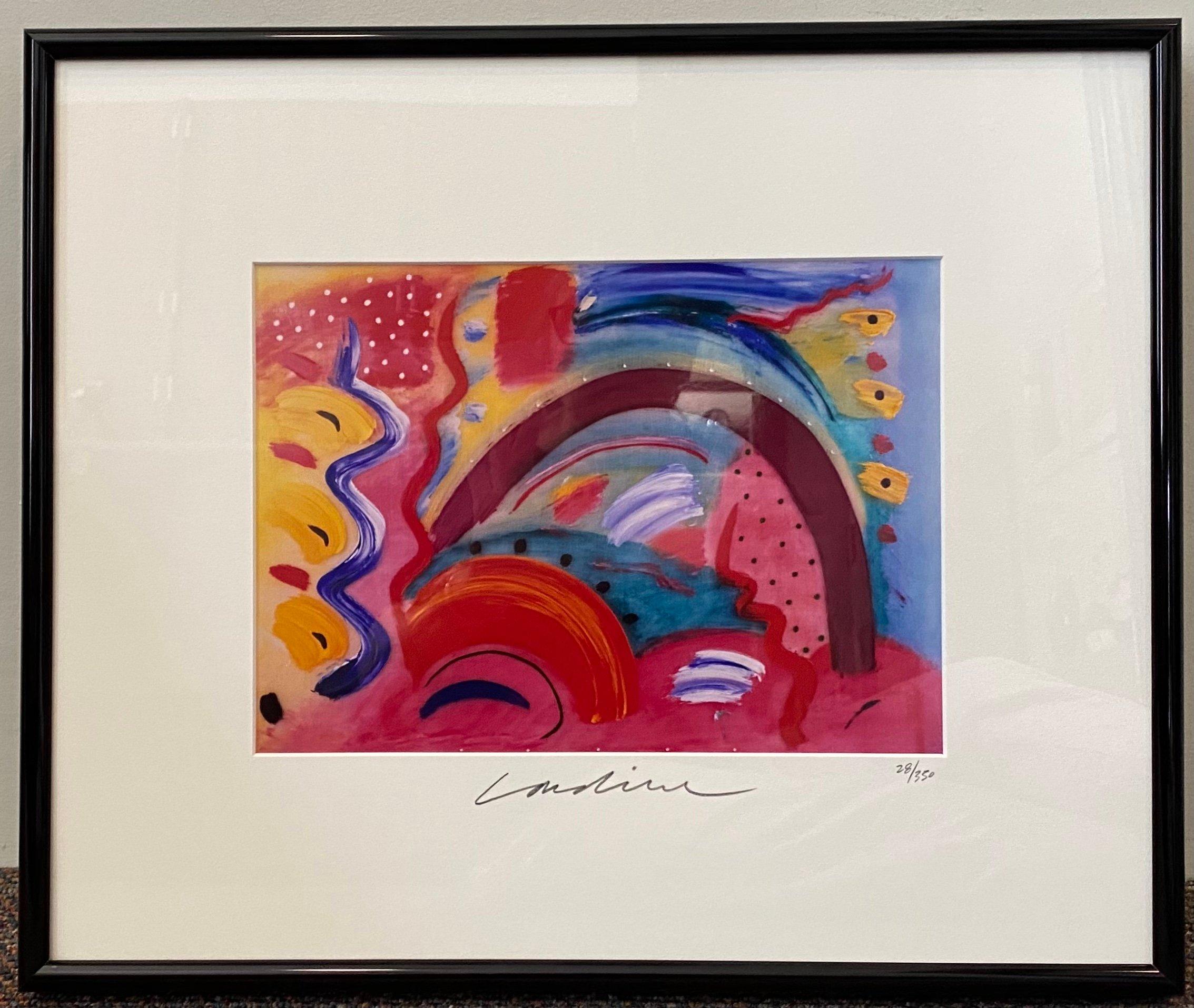 "Geoffrey Lardiere (Unknown) Lithograph 8"" X 11.5"" $195."