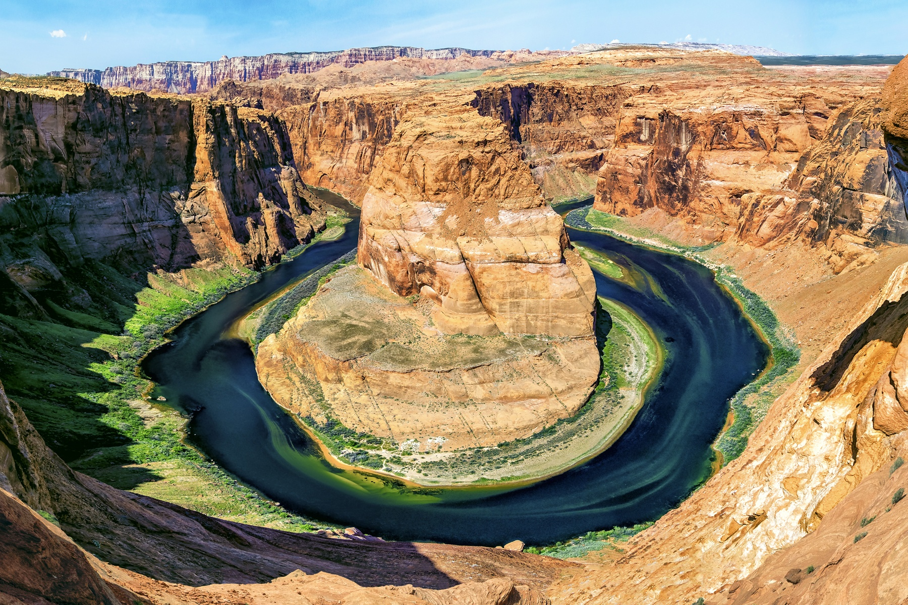 HORSESHOE BEND - Just outside Page, Arizona is this incredible view from the steep cliff that overlooks the Colorado River some 1,100 feet below.