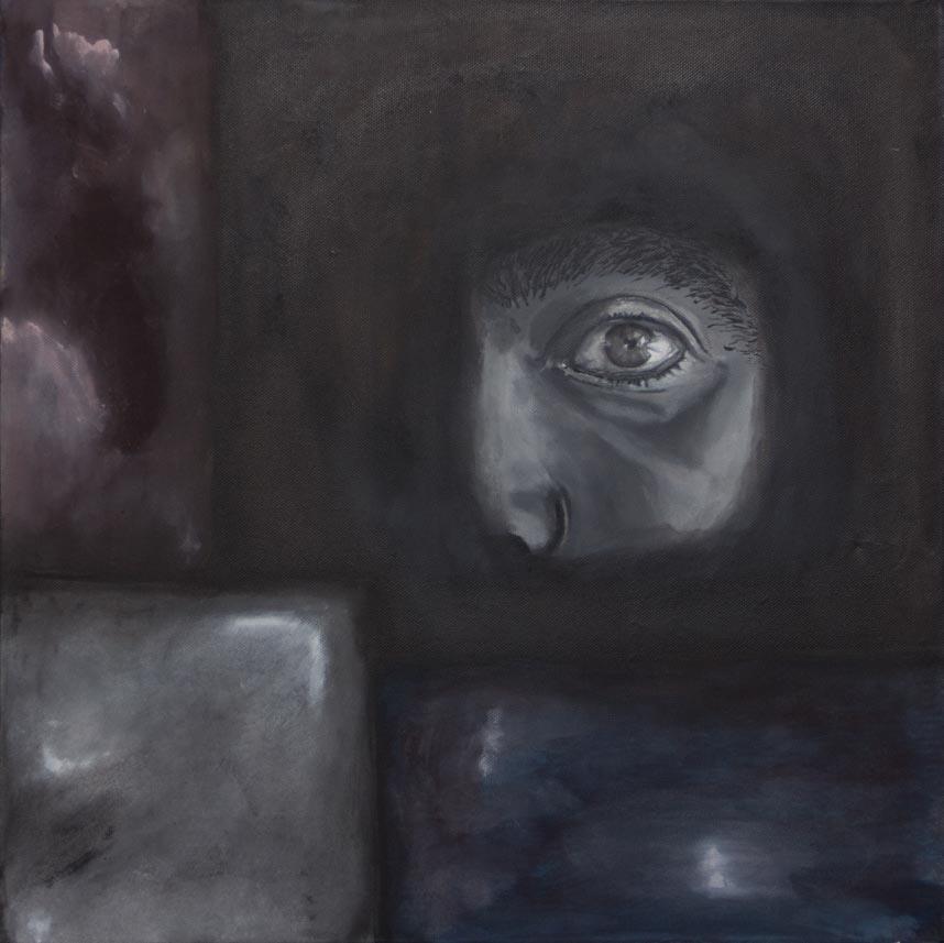 La mirada, 2016 Acrilico sobre tela 50 x 50 cm