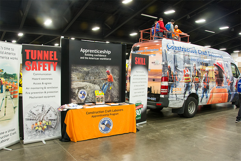 Construction career fairs offer the opportunity to learn more about the Laborers.
