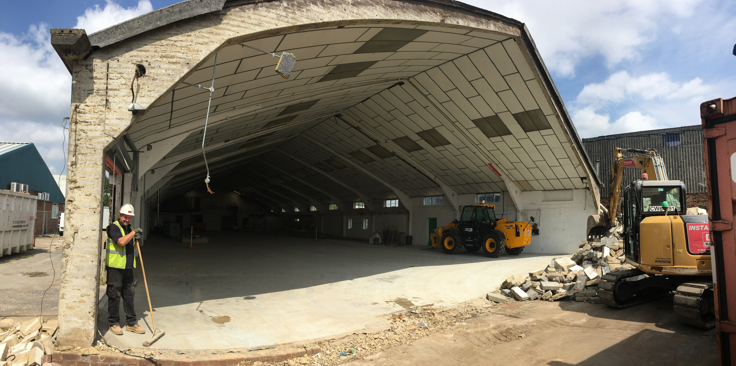 view inside of the concrete portal frame