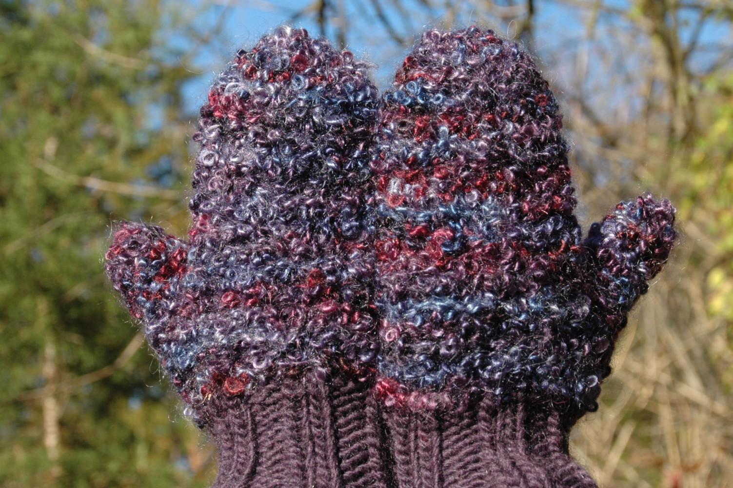 Mohair mittens