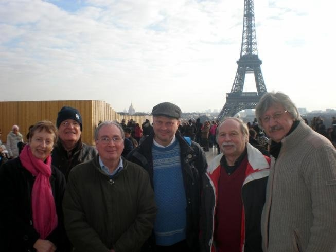 Merrydowners on visit to the Eiffel Tower
