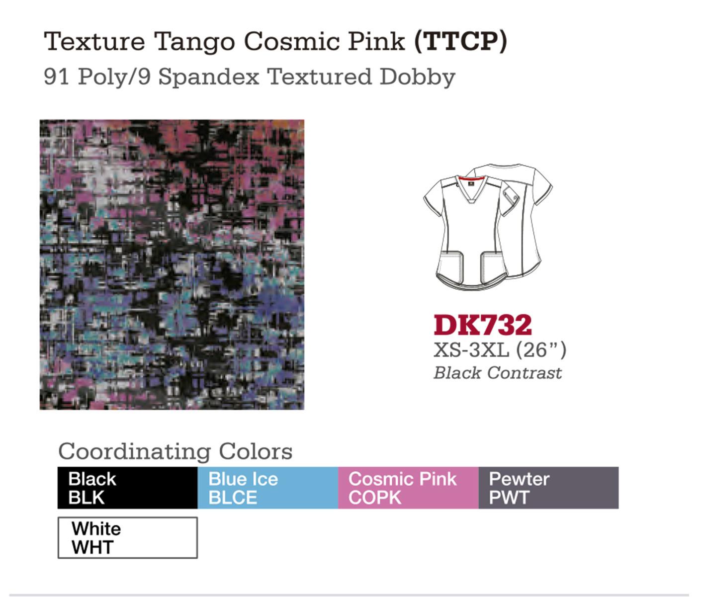 Texture Tango Cosmic Pink. DK732.