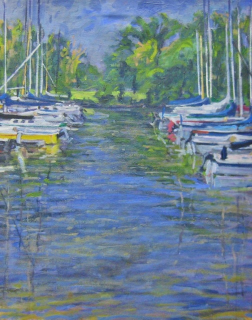 "Michael Francis, Daingerfield Marina No. 2, 26"" x 21"" Oil"