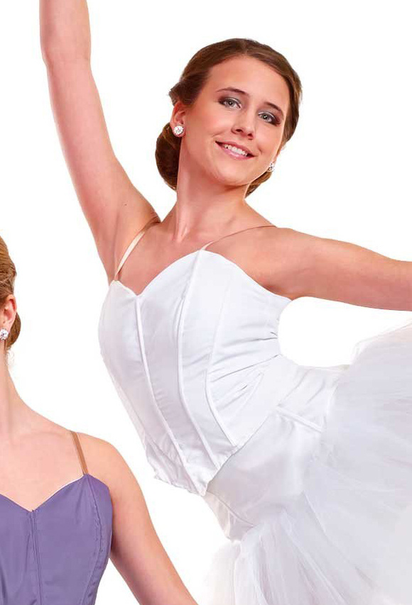 Ballet top in white