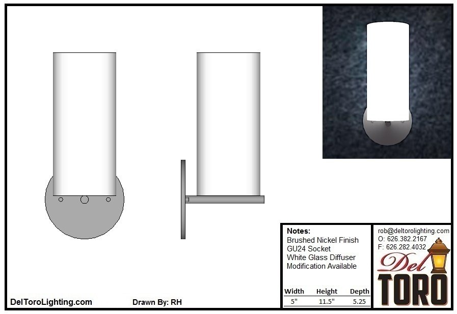 525W-Cylinder Wall Sconce