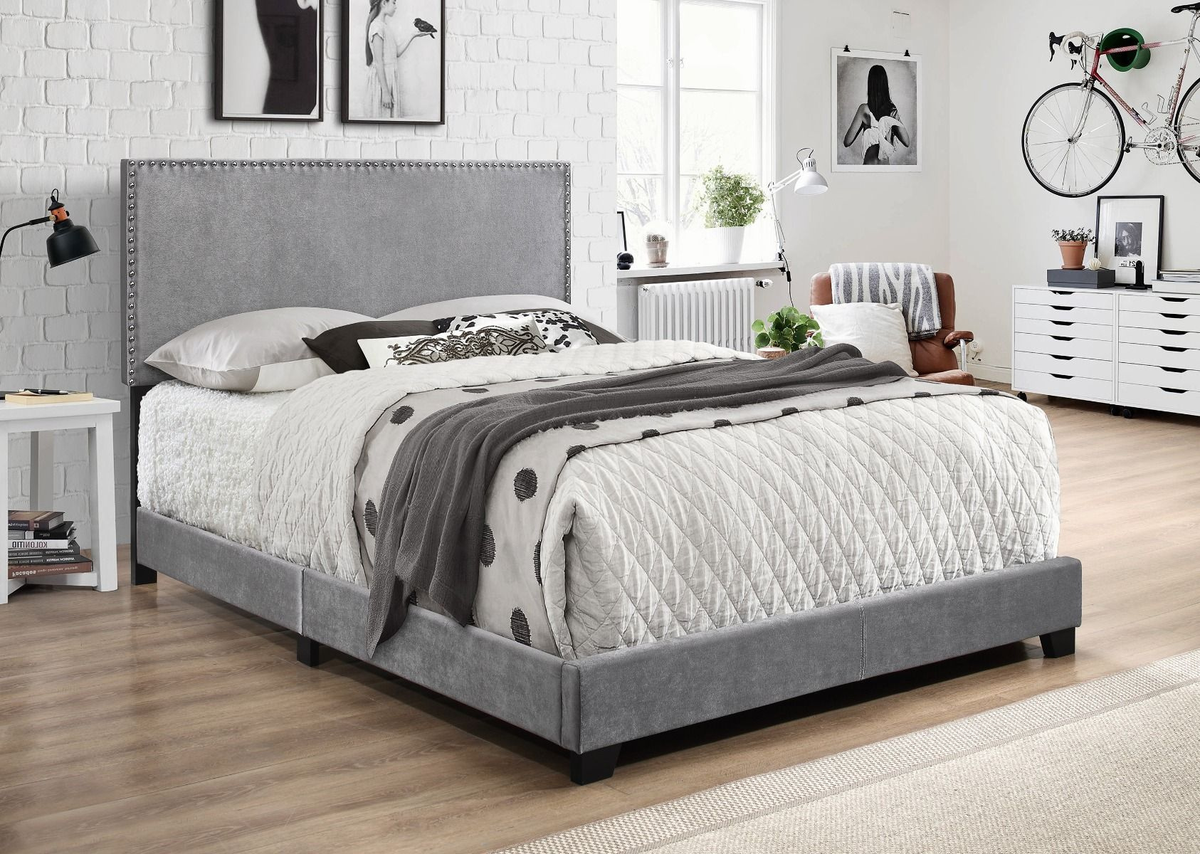 5271VLGY-NH Erin Bed Grey