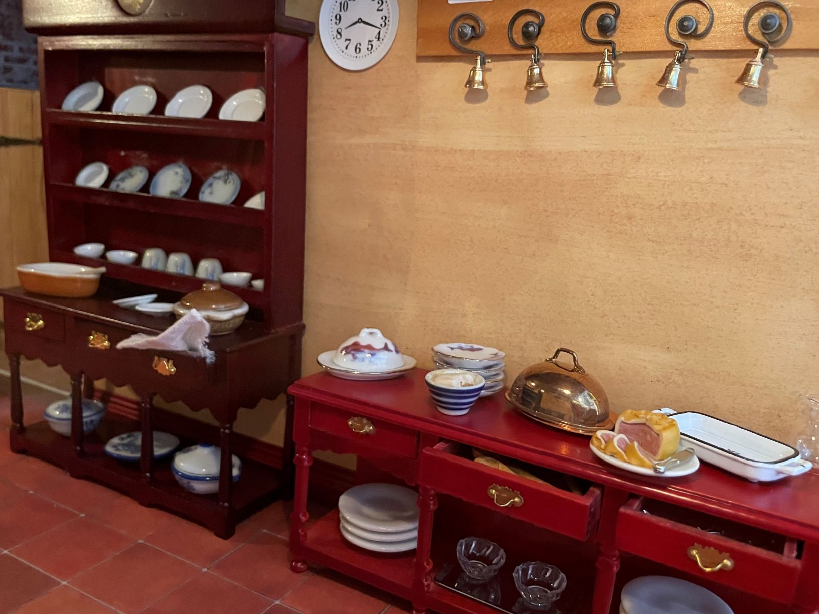 Sideboard & Dishes; Servant Call Bells