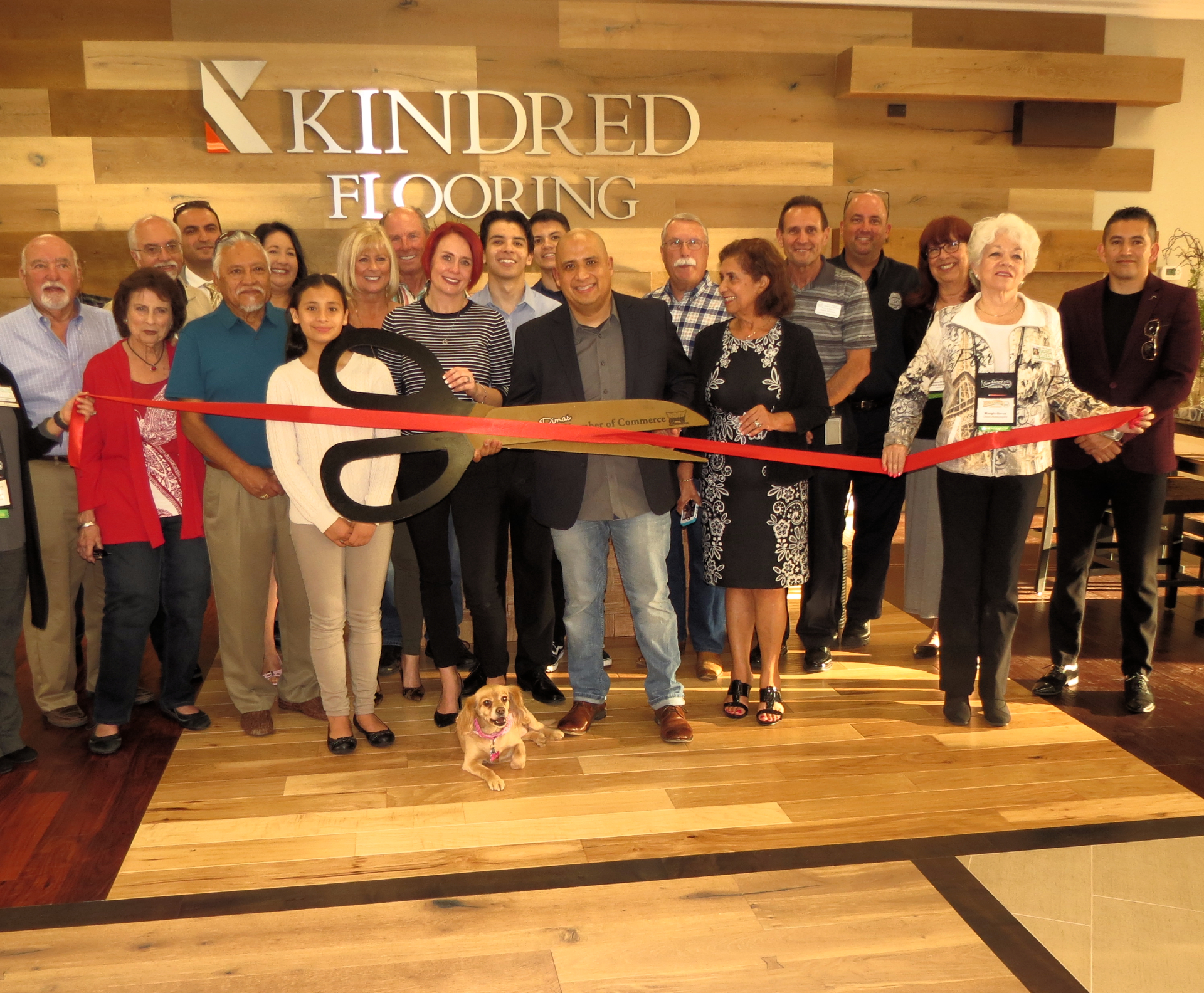 Kindred Flooring Ribbon Cutting  Ceremony with the city of San Dimas.  2/9/17