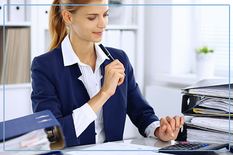 Female Accountant in Office