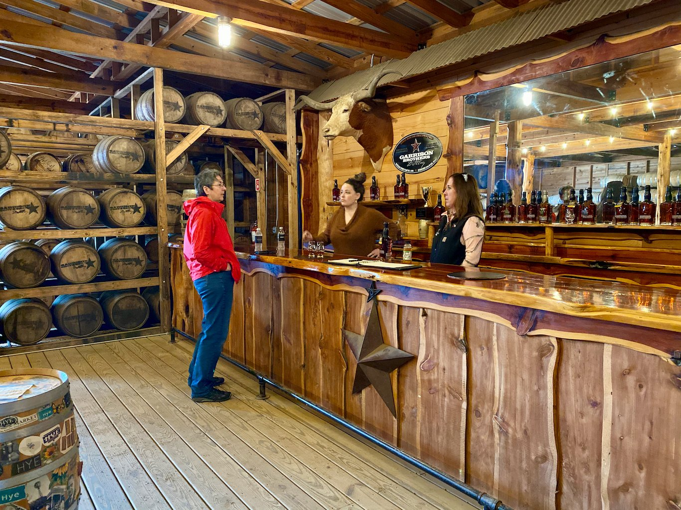Tasting Bar in Rickhouse 1 - Garrison Brothers Distillery