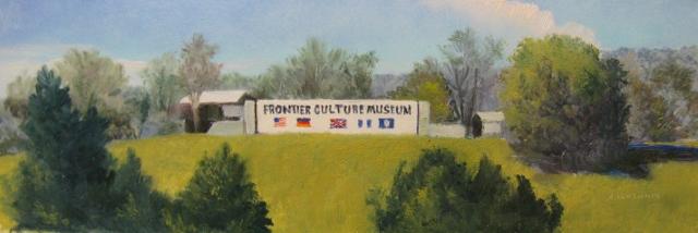 49. SOLD  Museum of Frontier Culture Sign, 4 1/4 x 12 op