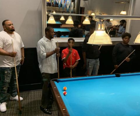 Men Playing Billiards 1