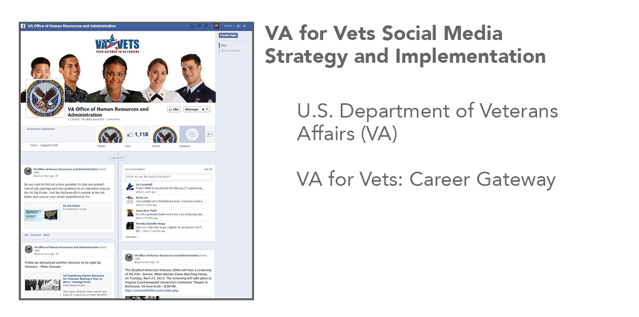 Veterans Affairs Facebook Content Management