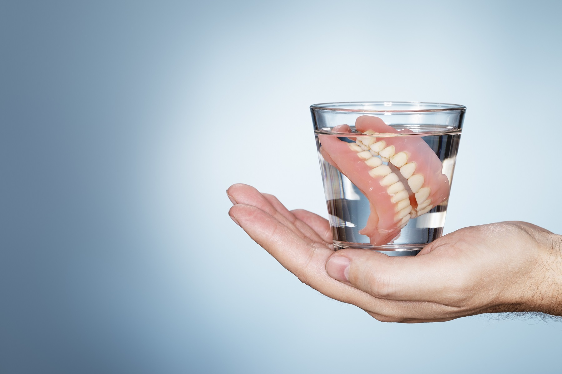 Dentures in a Glass