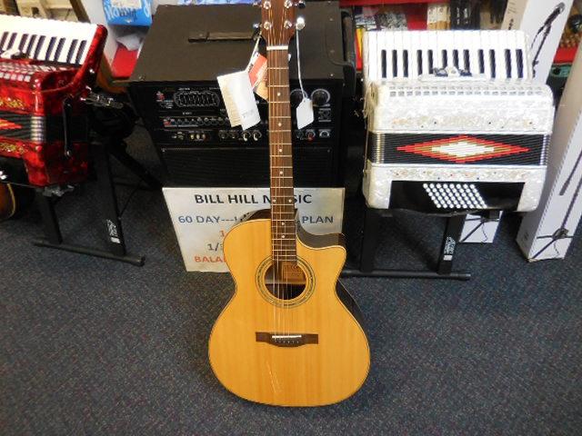 Teton Ebony Guitar - front
