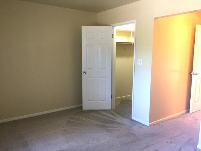 Bedroom and walk-in closet
