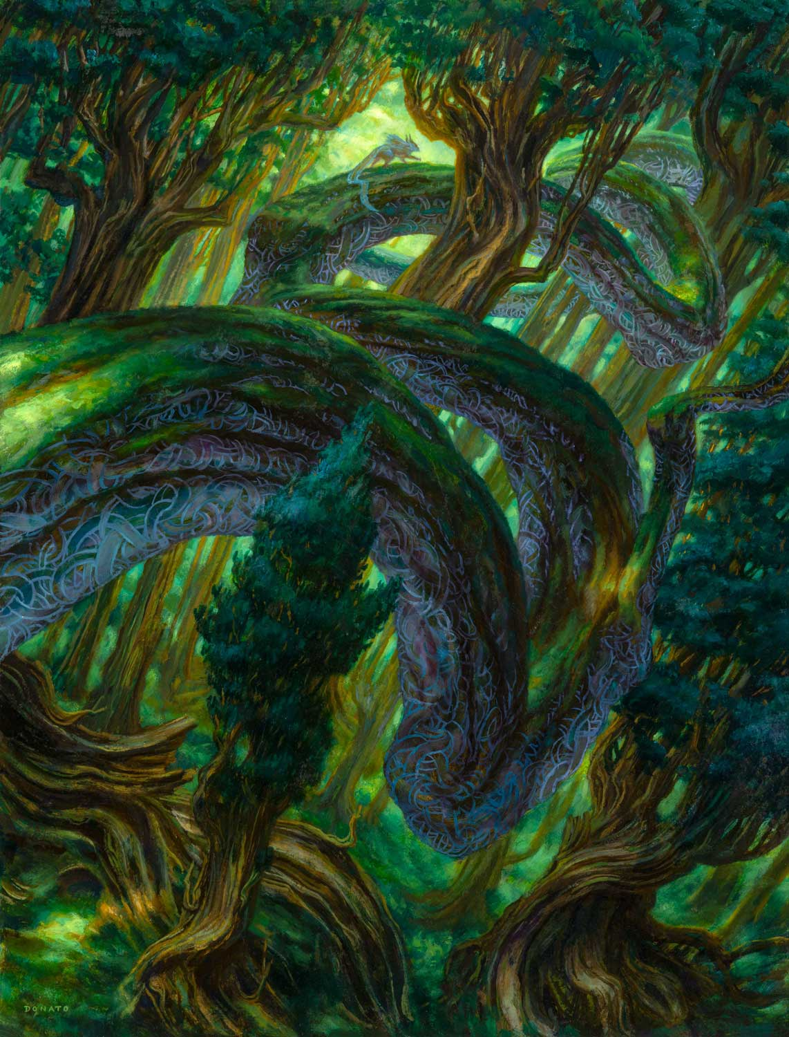 """Branchloft Pathway Secret Lair:  Ultimate Edition 2 24"""" x 18""""  Oil on Panel private collection"""