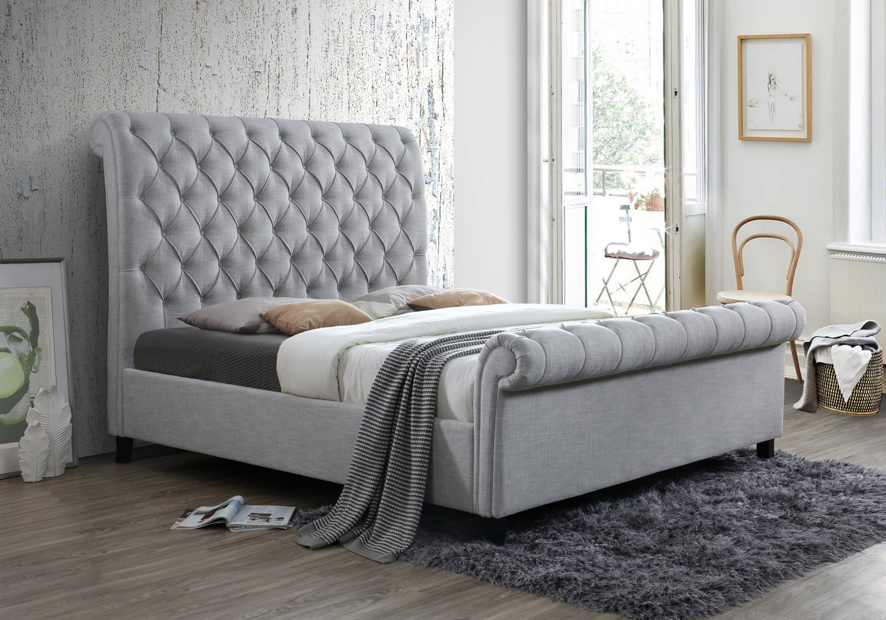 5103-K-Q Kate Sleigh Bed