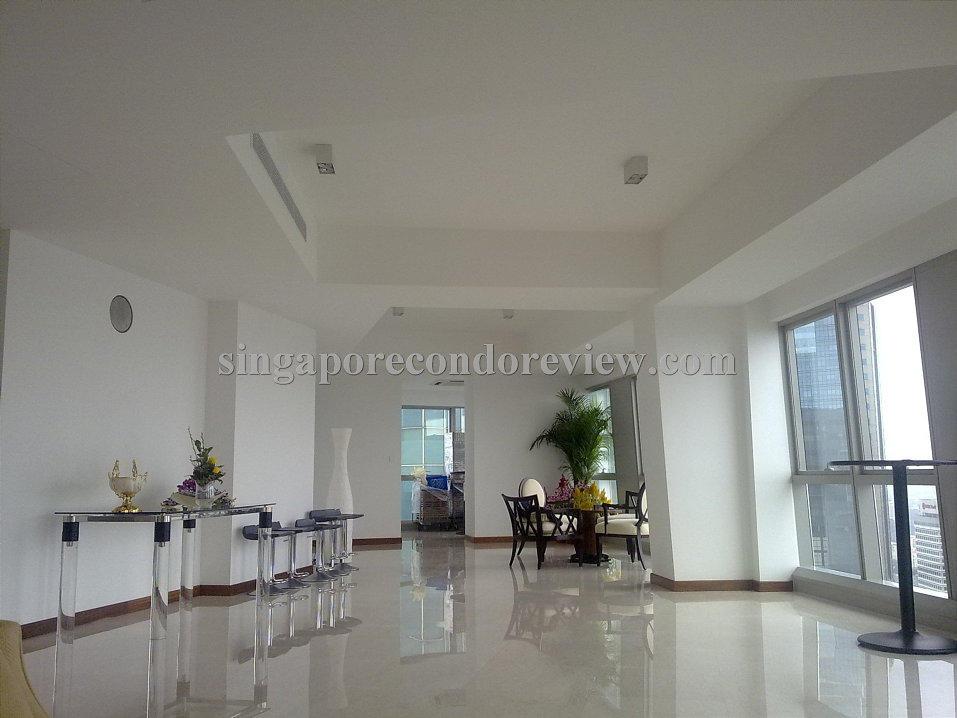 Living Room of a Penthouse Unit at The Sail at Marina Bay