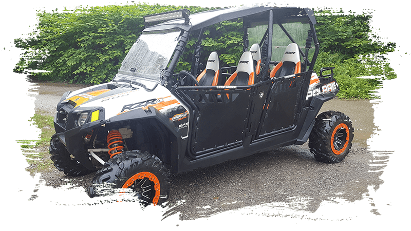 Black and Orange UTV
