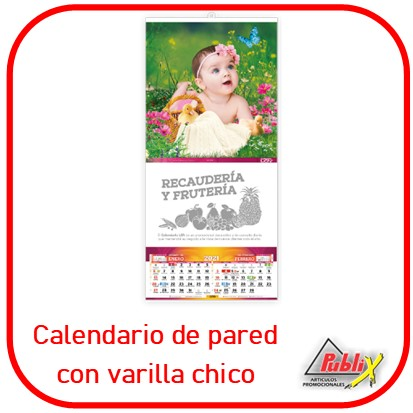 Calendario de varilla chico