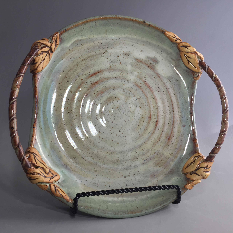 Large Blue Green Platter 046
